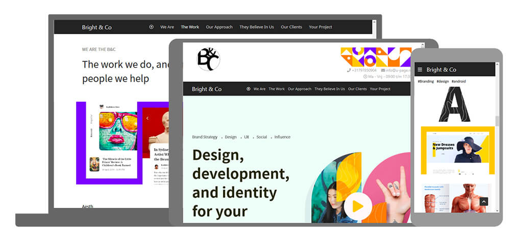 Bright & Co - U-Page One Website