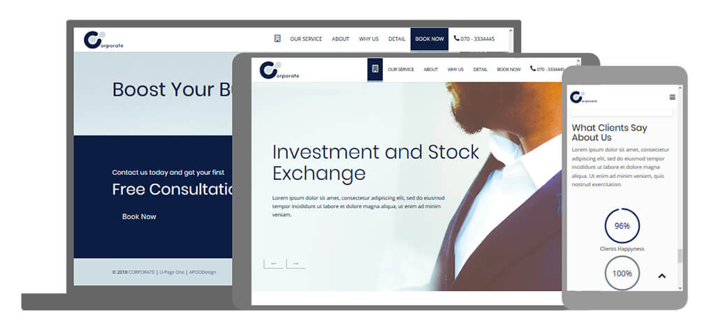 Corporate - U-Page One Website