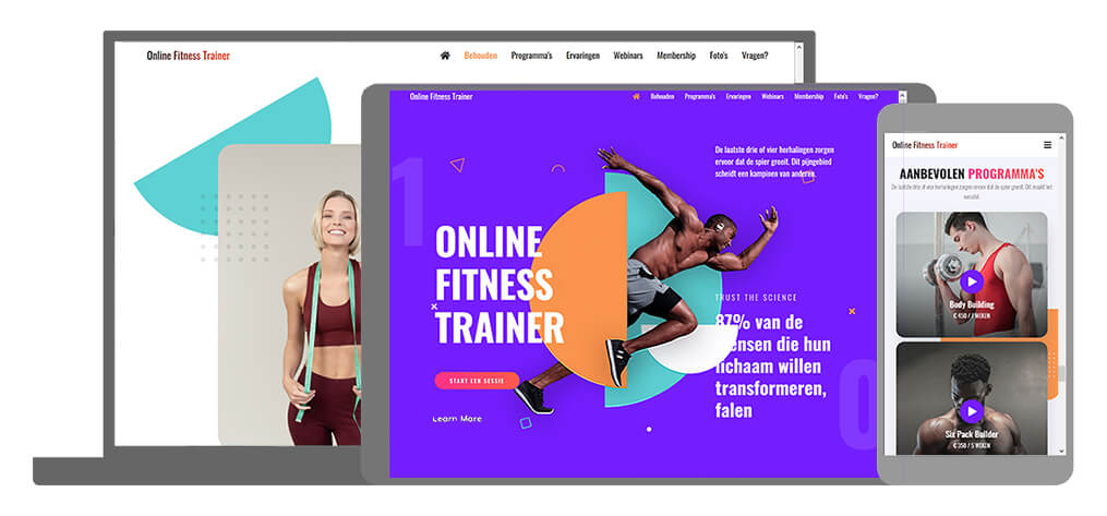Online Fitness Trainer - U-Page One Website