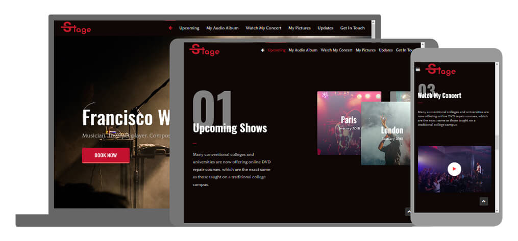 Stage - U-Page One Website