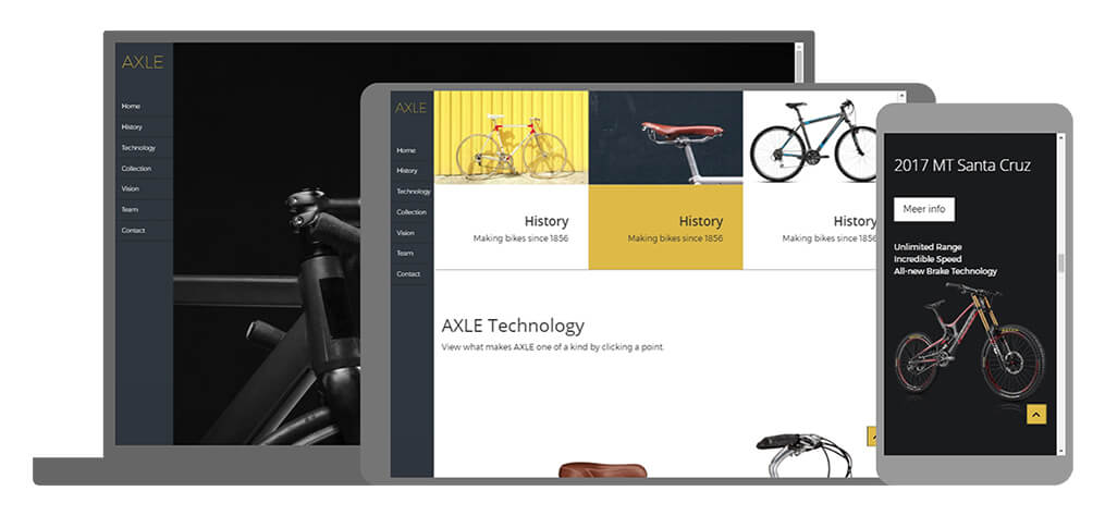 Axle - U-Page One Website