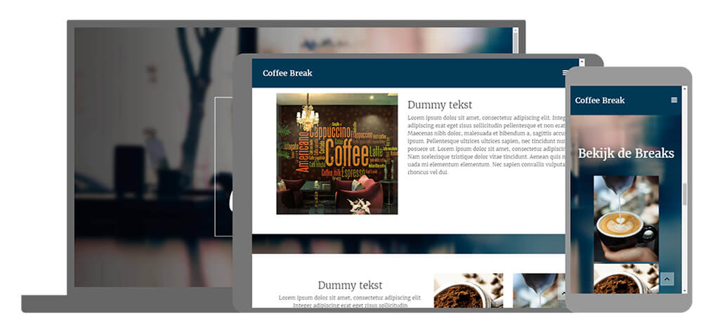 Coffee Break - U-Page One Website
