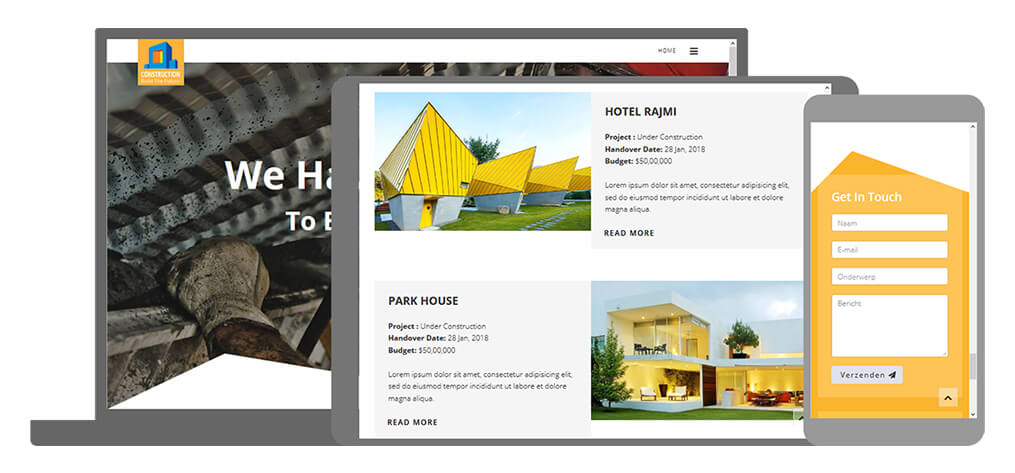Construction - U-Page One Website