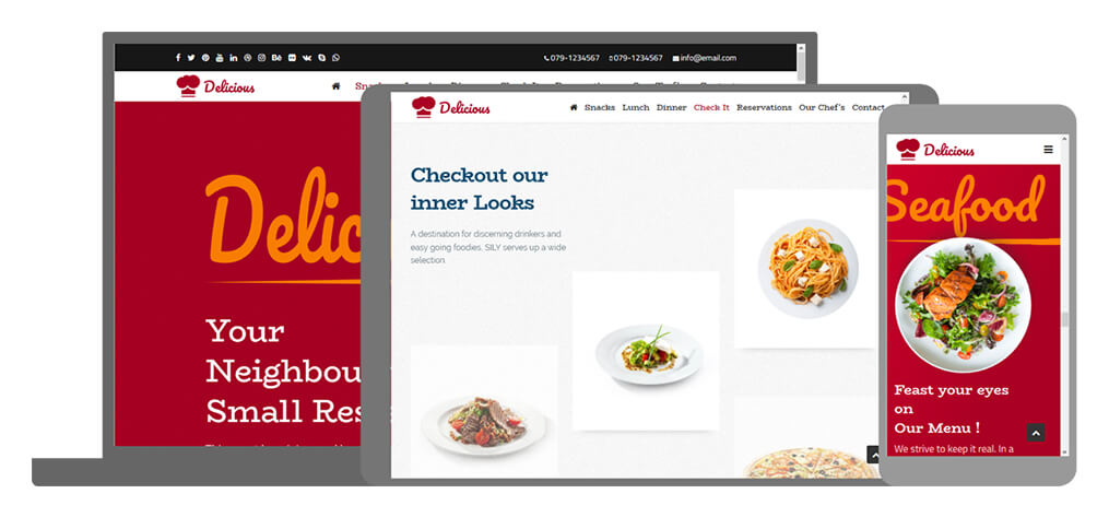 Delicious - U-Page One Website