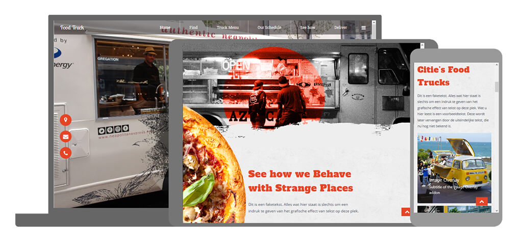 Food Truck - U-Page One Website