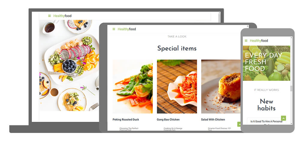 Healthy Food - U-Page One Website