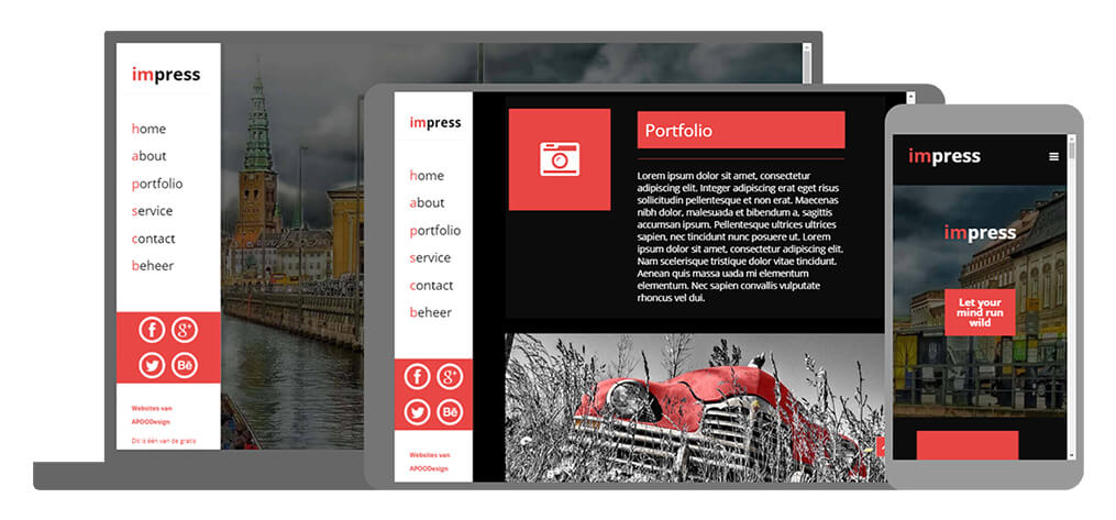 Impress - U-Page One Website