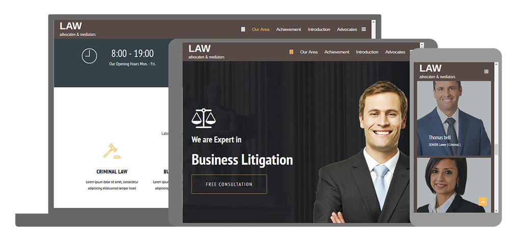 Law - U-Page One Website