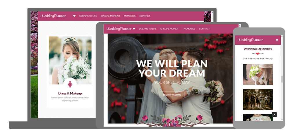 Weddingplanner - U-Page One Website